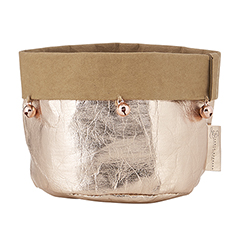 Washable Paper Holder - Small - Rose Gold Holiday