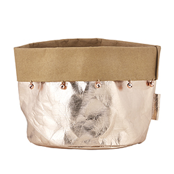 Washable Paper Holder - Large - Rose Gold Holiday