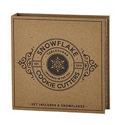 Cardboard Book Set - Snowflake Cookie Cutters