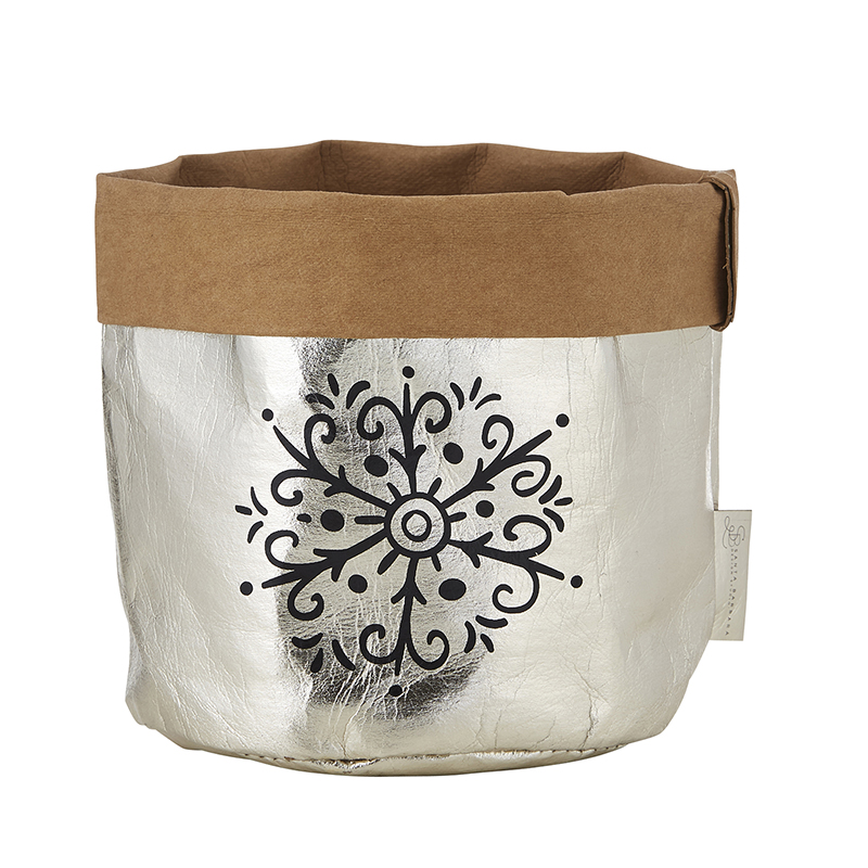 Washable Paper Holder - Medium - Champagne Holiday
