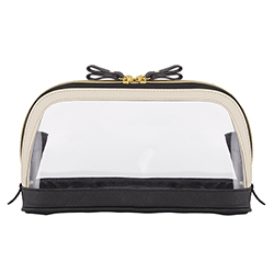 Bow Travel Pouch - Black/Ivory