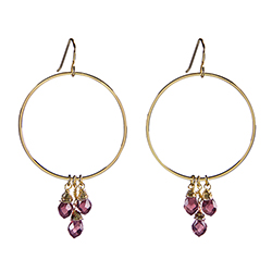 Dangle Hoops - Violet
