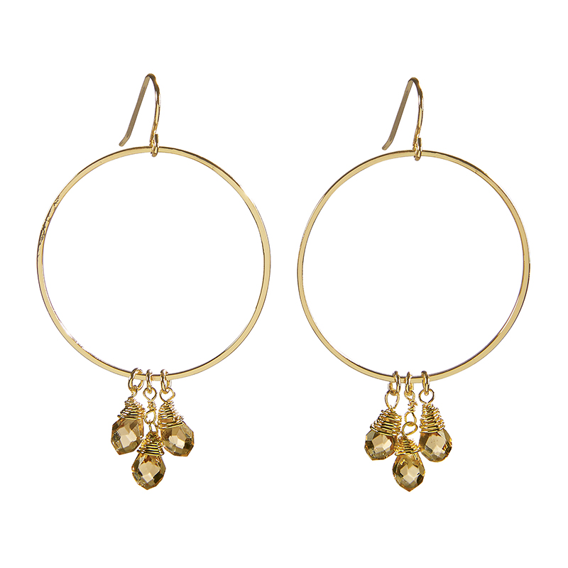 Dangle Hoops - Radiant Crystal