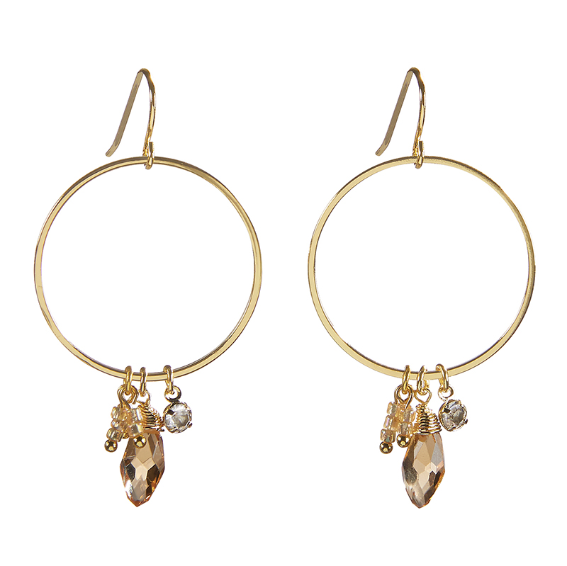Dangle Hoops - Mosaic