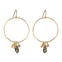 Dangle Hoops - Silver Smoke