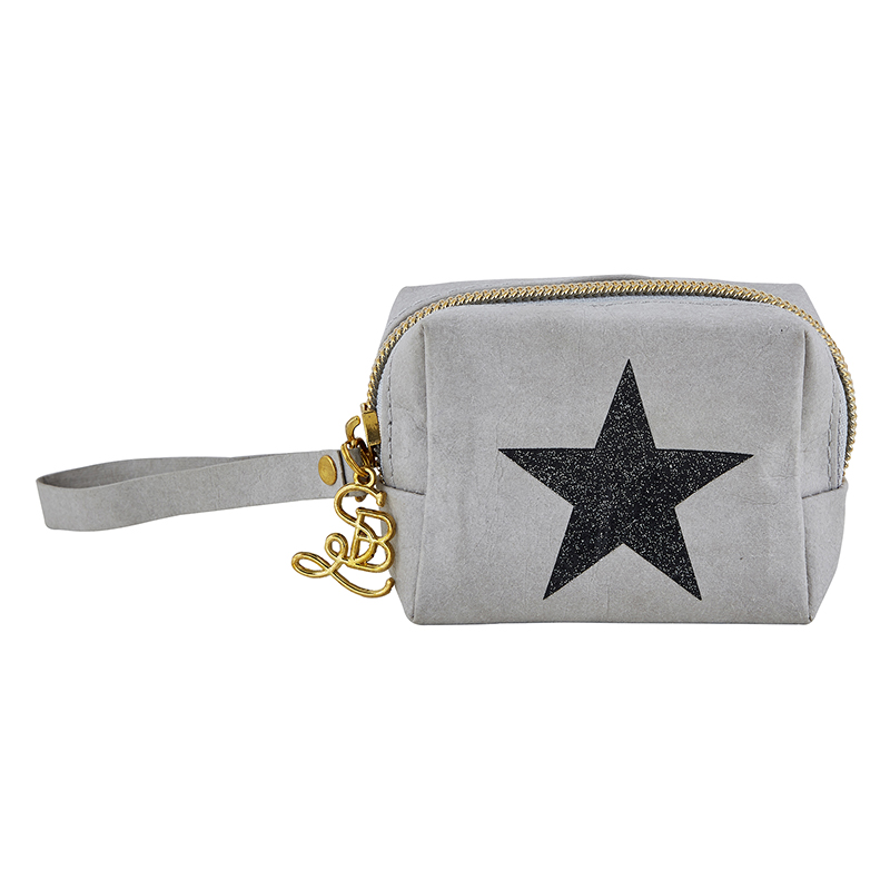 Mini Pouch - Grey Star