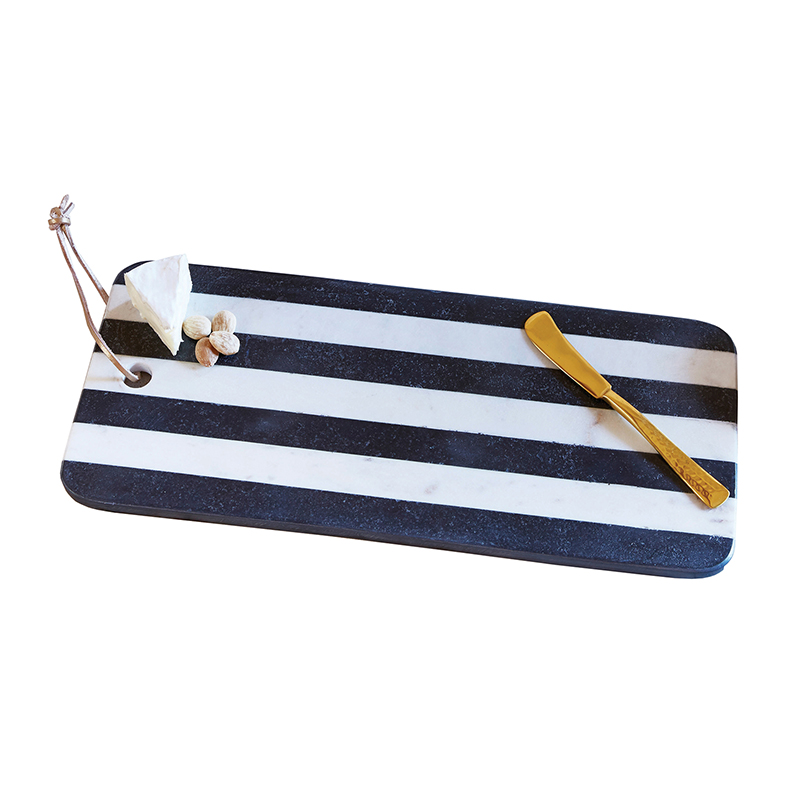 Marble Board - Black & White Stripe