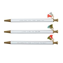 Tassel Pens - White