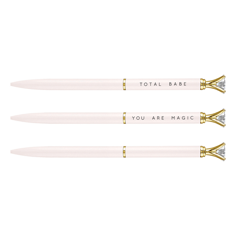 Mini Gem Pens - Blush/White