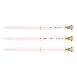 Mini Gem Pens - Blush/White