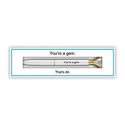 That's All® Boxed Gem Pen - You're A Gem