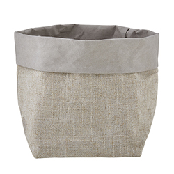 Washable Paper Holder - Medium - Grey Linen