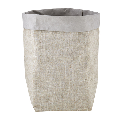Washable Paper Holder - Large - Grey Linen