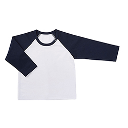 Baseball T-Shirt - White/Navy, 6-12 months