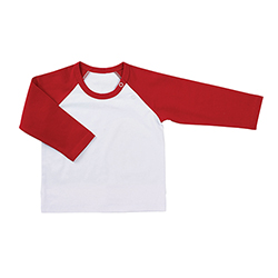 Baseball T-Shirt - White/Red, 6-12 months