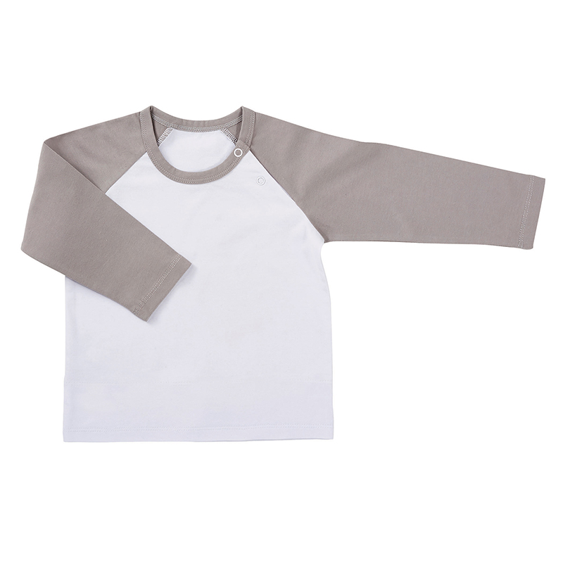 Baseball T-Shirt - White/Gray, 6-12 months