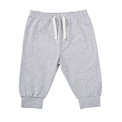 Pants - Stripe Gray/White, 6-12 months