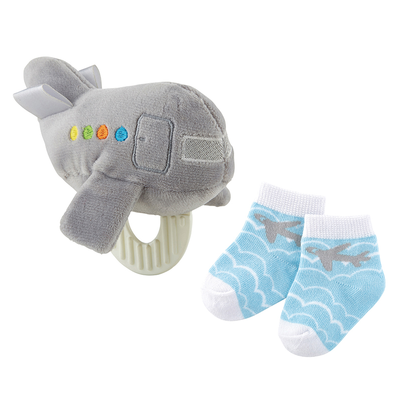 Teether Toy & Sock Set - Airplane