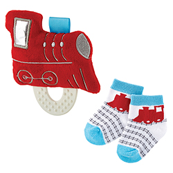 Teether Toy & Sock Set - Train