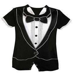 Short Romper - Tuxedo, 3-6 months