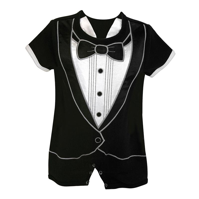Short Romper - Tuxedo, 6-12 months