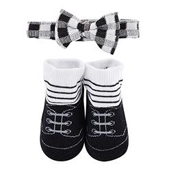 Bowtie & Socks Set - Black Stripe Tuxedo, 3-12 months