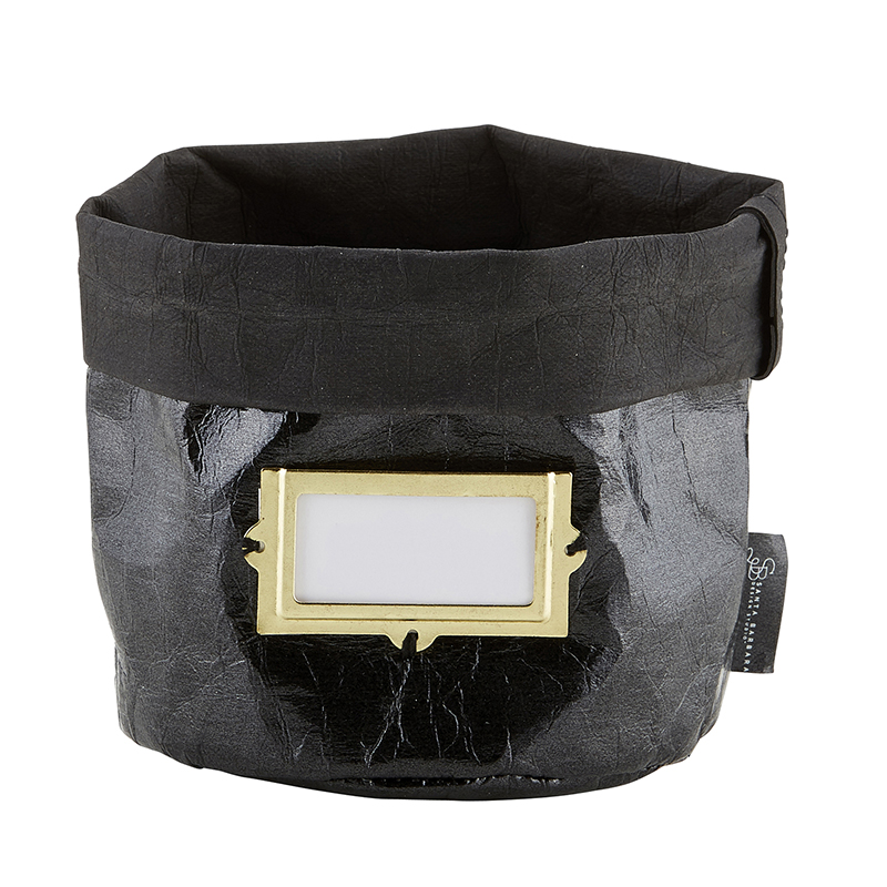 Washable Paper Holder - Medium - Metallic Black
