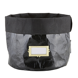 Washable Paper Holder - Large - Metallic Black