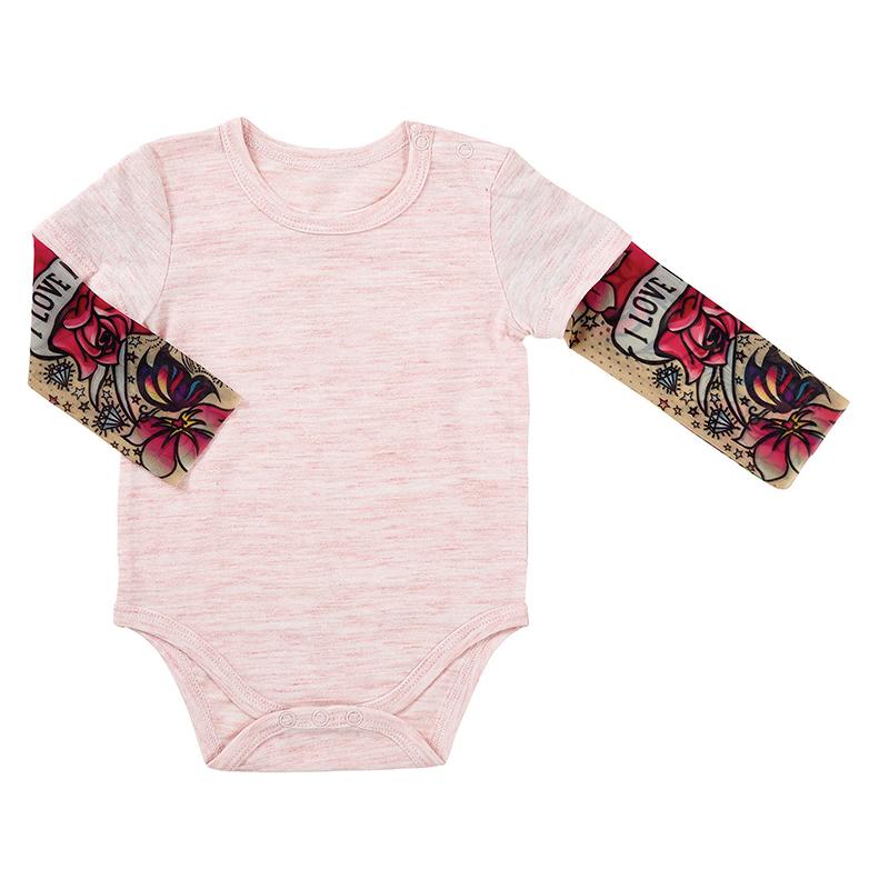 Tattoo Snapshirt - Pink, 6-12 months