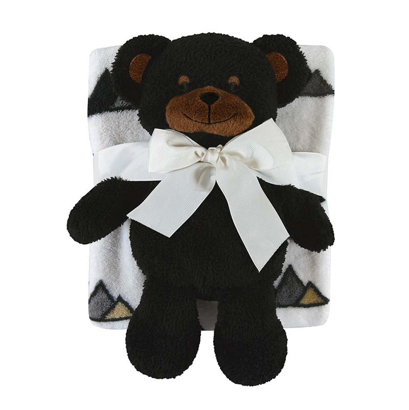 Blanket Toy Set - Black Bear