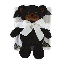 Blanket Toy Set - Black Bear