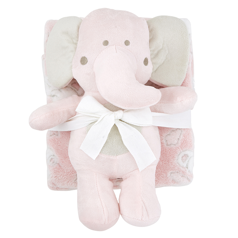 Blanket Toy Set - Pink Elephant