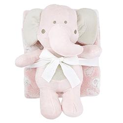Blanket Toy Set - Pink Elephant