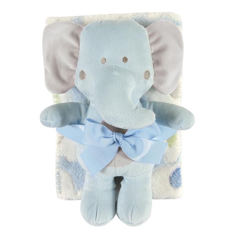 Blanket Toy Set - Blue Elephant