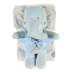 Blanket Toy Set - Blue Elephant