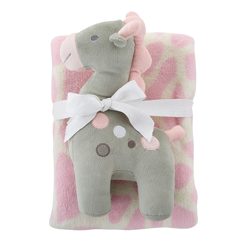 Blanket Toy Set - Pink Giraffe