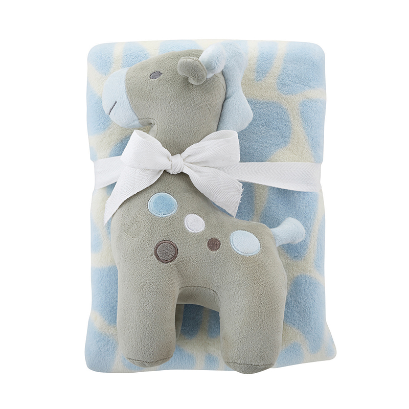 Blanket Toy Set - Blue Giraffe