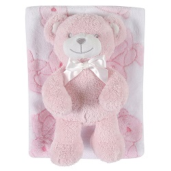 Blanket Toy Set - Pink Bear