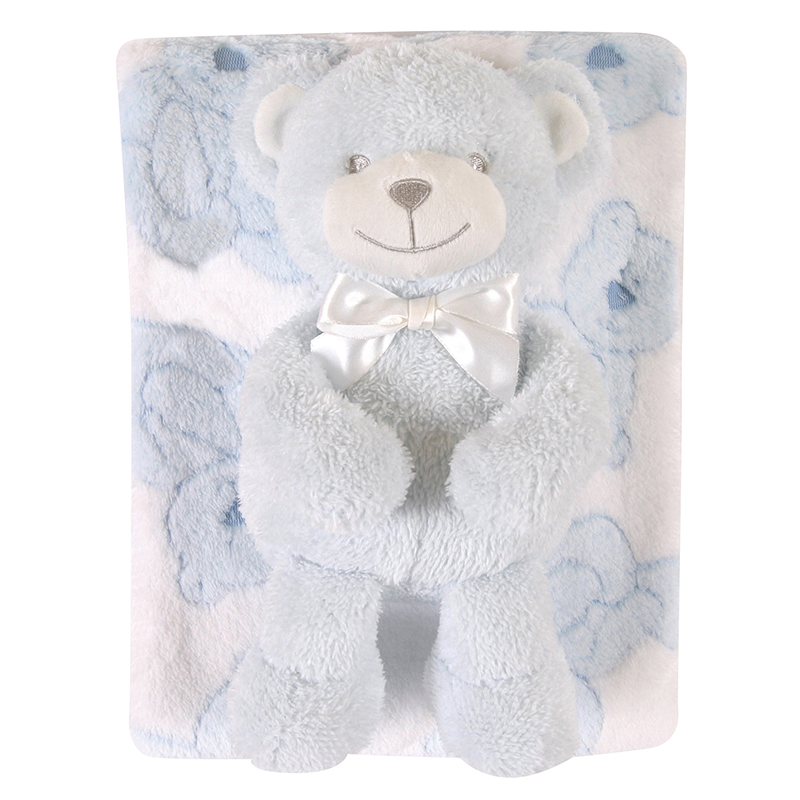 Blanket Toy Set - Blue Bear