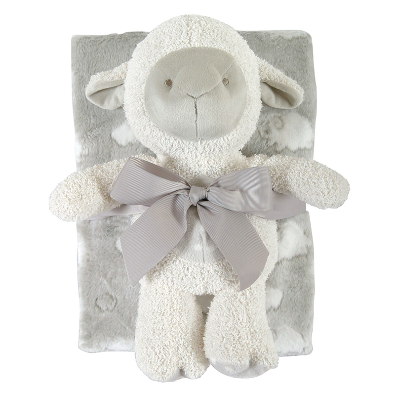 Blanket Toy Set - Gray Lamb