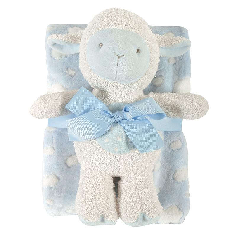 Blanket Toy Set - Blue Lamb