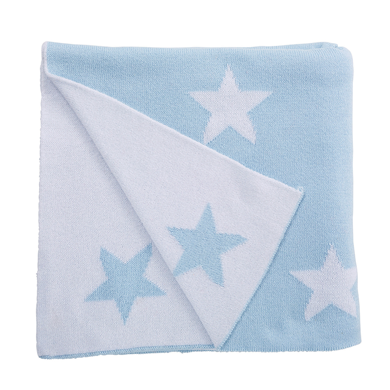 Luxe Blanket - Blue Star