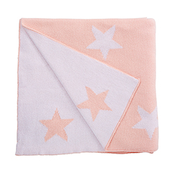 Luxe Blanket - Pink Star