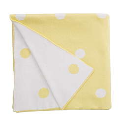 Luxe Blanket - Yellow Dots