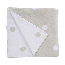 Luxe Blanket - Silver Dots