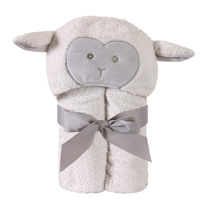 Hooded Towel - Lamb