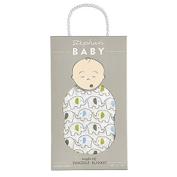 Swaddle Blanket - Blue Elephant