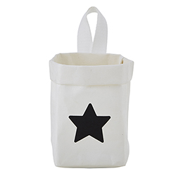 Washable Paper Organizer - Mini - White Star
