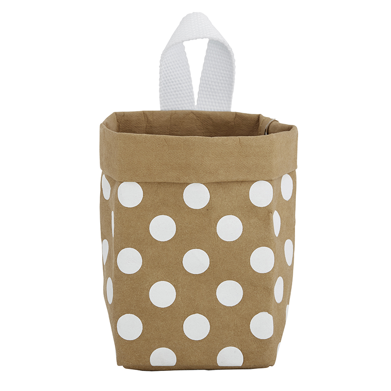 Washable Paper Organizer - Mini - Kraft Dot