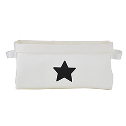 Washable Paper Storage Tote - White Star
